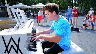 ON MY WAY - Alan Walker | STREET PIANO PERFORMANCE