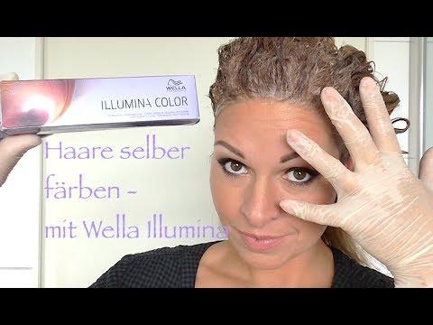 Haare Selbst Farben Mit Wella Illumina Deutsch Hd Diy Youtube