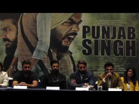 Punjab Singh director Taaj addresses the media in Chandigarh.
