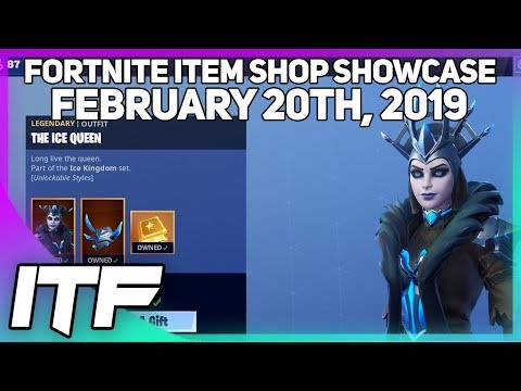 Fortnite Item Shop THE ICE QUEEN IS BACK! [February 20th, 2019] (Fortnite Battle Royale)