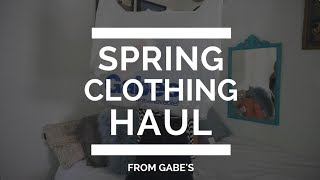 Gabe's Spring Clothing Haul by Mallory
