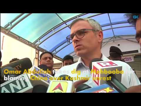 Omar Abdullah takes dig at Mehbooba for blaming China over Kashmir unrest
