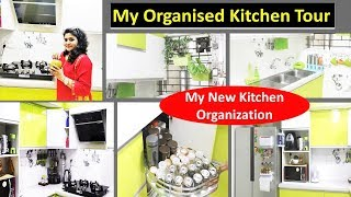 देखिये मैंने कीचेन को कैसे सजाया Kitchen Organization Ideas  New Kitchen Tour   Kitchen Organization