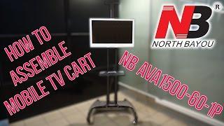 Как собрать мобильную стойку NB AVA1500-60-1P How to assemble mobile TV Cart