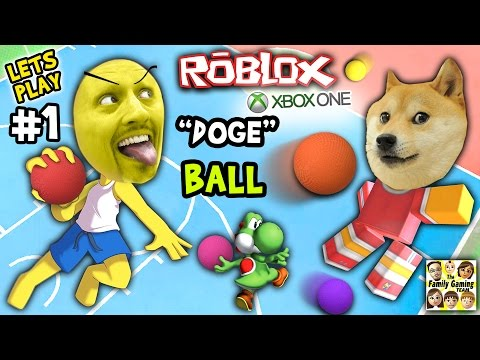 Thumbnail: Let's Play ROBLOX #1: Doge the Dog Ball aka Dodgeball (FGTEEV Xbox One 4 Rounds of Fun)