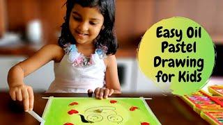 Easy Oil Pastel Drawing for Kids | Oil Pastel Art for Kids | #8