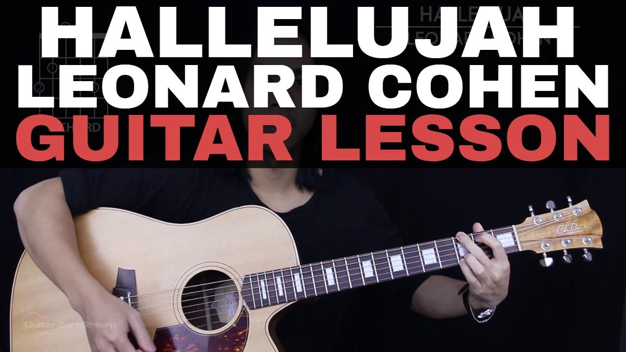 Hallelujah Guitar Tutorial Leonard Cohen Guitar Lesson