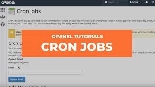 cPanel Tutorial Series - cPanel Cron Jobs Interface thumbnail