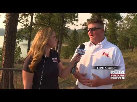 Pactola Lake Accident Live Shot Madison Elliott