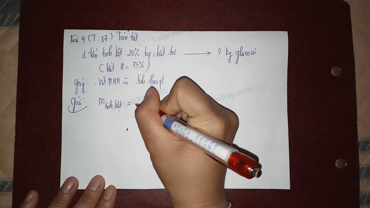 Giải bài 4 trang 37 SGK Hóa học 12