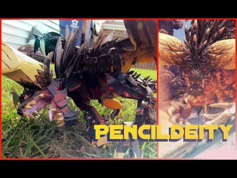 Nergigante Popsicle Stick Model Part: 2 Paint and Showcase
