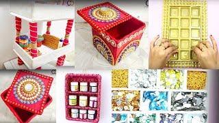 5 Best DIY Organiser Box Idea I Best Out of Waste Ideas I Creative Diaries