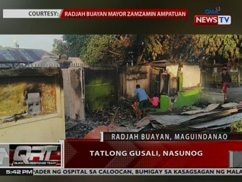 QRT: 3 gusali sa Radjah Buayan, Maguindanao, nasunog