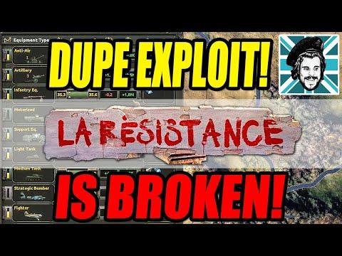 Hearts of Iron IV DUPE EXPLOIT IS BROKEN! - La Resistance DLC |