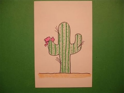 let 39 s draw a cactus youtube. Black Bedroom Furniture Sets. Home Design Ideas