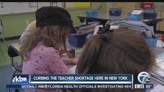 Curbing the teacher shortage here in New York