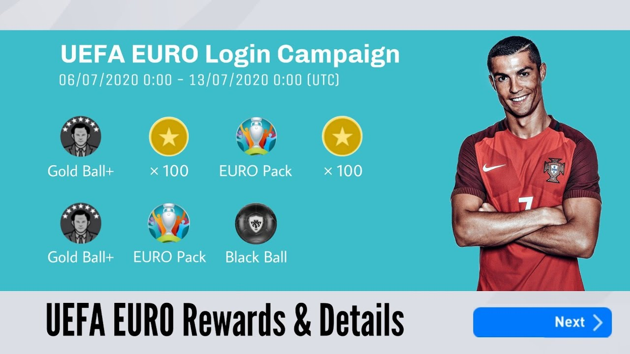 UEFA EURO Rewards and Events Pes 2020 Mobile | Leaked News and Updates