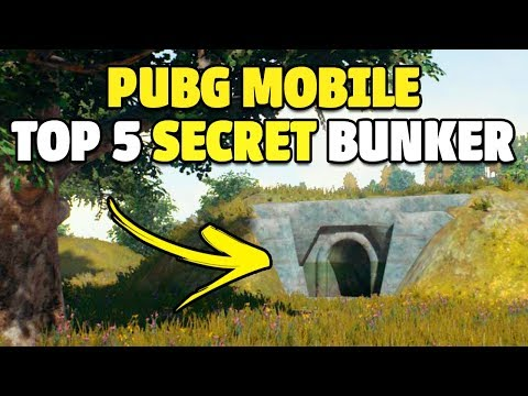 TOP 5 SECRET BUNKER LOCATIONS! | AWESOME LOOT! | PUBG Mobile