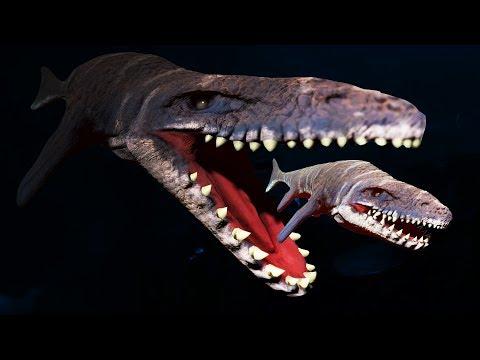 ATTACK Of The KILLER MOSASAURUS! - Feed And Grow Fish Gameplay