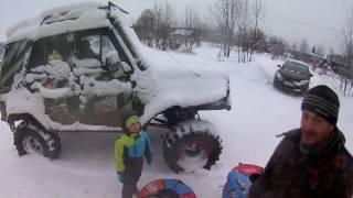 Правильная музыка! Снежна горка в Перемилово Великий Устюг  Авто Экстрим  4х4