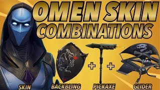 OMEN SKIN BEST BACKBLING + SKIN COMBOS! (Legendary skin) (Fortnite Battle Royale) (2018)