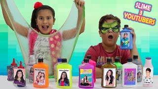 NÃO ESCOLHA O YOUTUBER ERRADO - DESAFIO DO SLIME COM 3 CORES ★ 3 colors of glue slime challenge