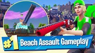 NEW Beach Assault LTM Gameplay - Fortnite Battle Royale