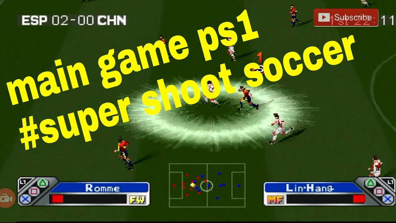 Super shoot soccer main game ps1 di android - YouTube