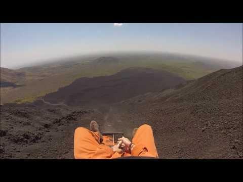Volcano Boarding Nicaragua Video- Cerro Negro, Bigfoot Hostel (GoPro Video)
