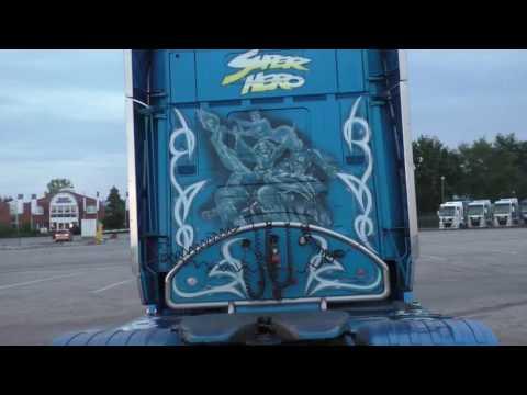 2x SCANIA V8 - Henrik Hansen Transport - Open Pipe Sound [HD]