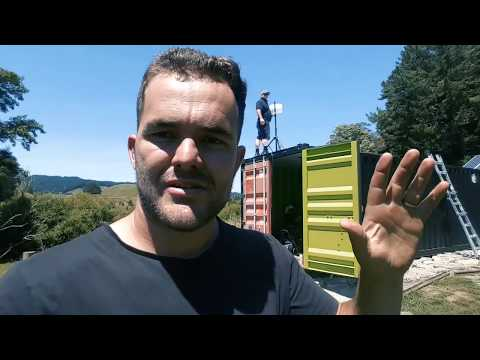 Fast Off-Grid Internet!!! Wireless AoNet Broadband install in a Shipping Container
