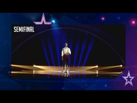 César Brandon se lleva el Pase de Oro con su poesía | Semifinal 4 | Got Talent España 2018