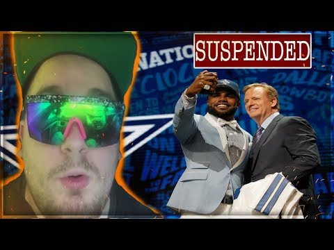 Ezekiel Elliott Gets 6 Game Suspension -- EAGLES FAN REACTION