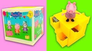 Свинка Пеппа коробка сюрприз с героями мультика