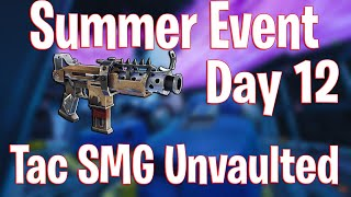 Tac SMG Unvaulted Rumble LTM - 14 Days of Summer Event Day 12 - New Free Back Bling - Fortnite