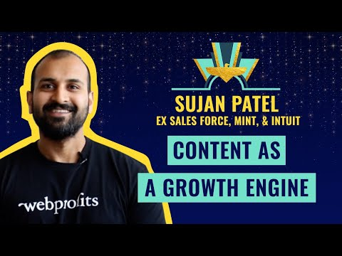 """Content as a Growth Engine"" by Sujan Patel, ex Sales Force, Mint, & Intuit 💎"
