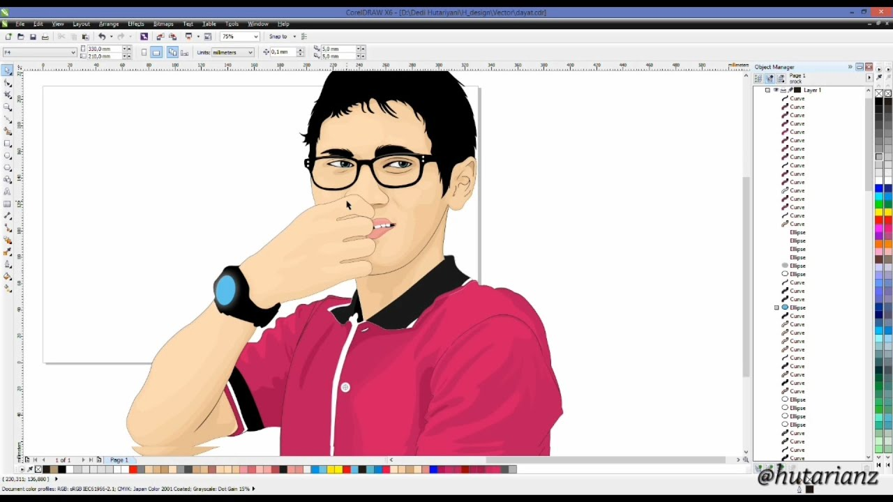Corel Draw Cartoon Tutorial Pdf | foxytoon co