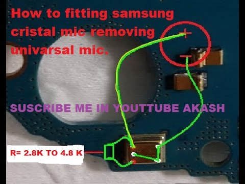 how to fitting universal mic to replace Samsung mic or how to fitting china  mic in Samsung