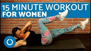 15 minute Workout for Women at Home - Full Body Workout