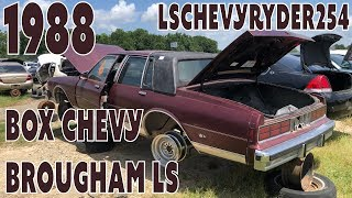Junk Yard Find 1988 BOX CHEVY CAPRICE BROUGHAM LS