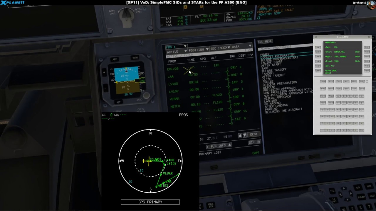 [XP11] VoD: SimpleFMC SIDs and STARs for the FF A350 [ENG]