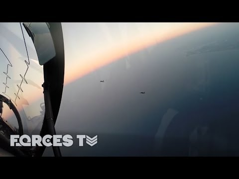 Royal Navy Pilots 'Become The Enemy' In The Skies Over Europe | Forces TV