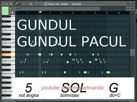 Solmisasi | Not Angka Lagu Gundul-Gundul Pacul