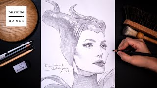 Drawing Sketch Disney Maleficent [Drawing Hands]