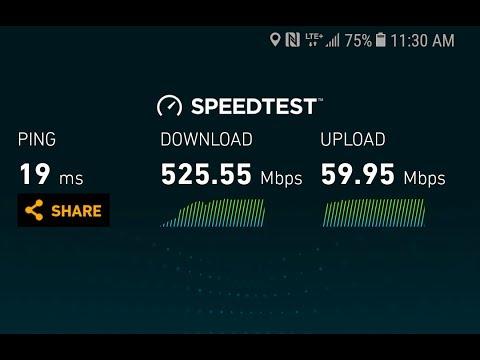 525+ Mbps Speedtest