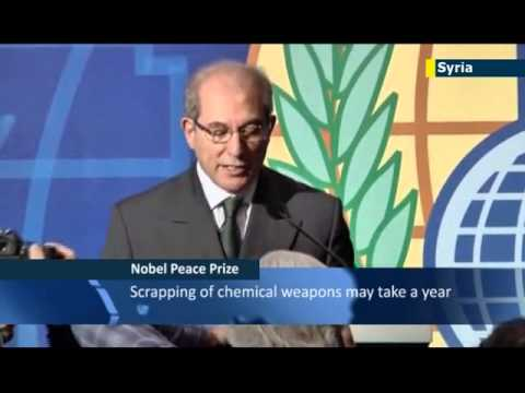 Chemical Weapons Watchdog wins Nobel Peace Prize: Damascus says award gives Assad 'credibility'