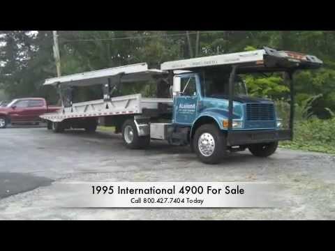 Car Carrier For Sale >> 1995 International 4900 DT466 5 Car Carrier - YouTube