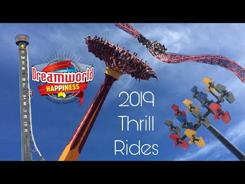 All Thrill Rides 2019 - Dreamworld Gold Coast Australia (Big