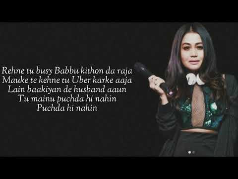 puchda-hi-nahin-(lyrics)-neha-kakkar-|-rohit-khandelwal-|-babbu-|-maninder-b-|-mixsingh
