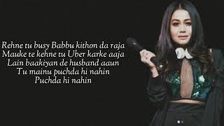 PUCHDA HI NAHIN (Lyrics) Neha Kakkar | Rohit Khandelwal | Babbu | Maninder B | MixSingh
